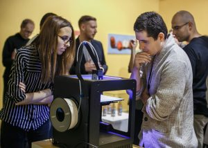 """Opening of exhibition """"Apple. An Introduction. Over and over again."""" with a demonstration by the company ZORTRAX, showing how the 3D printer works Muzeum Sztuki, Łódź © Anna Taraska-Pietrzak"""