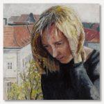 Eselshaut, 2005 Oil on wood, 60 x 60 cm