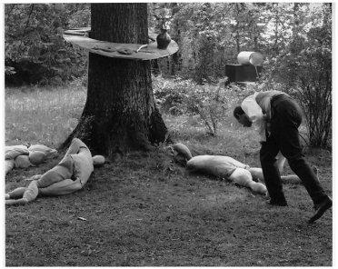 "Edward Krasinski et al./Jacek Maria Stoklosa From the series ""Ball in Zalesie"", 1968"