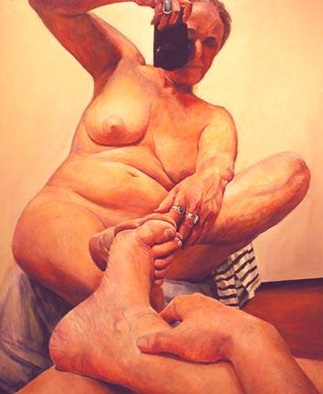 Joan Semmel With Stripes, 2003