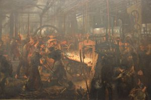 adolph_menzel_-_das_eisenwalzwerk_-_the_iron-rolling_mill_-_1872-1875